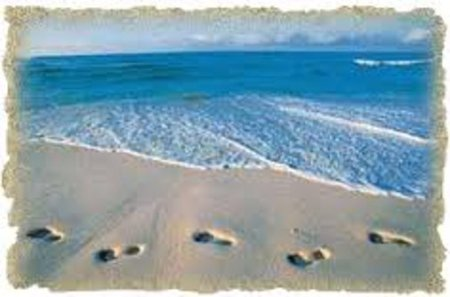 One night a man had a dream. He dreamed  he was walking along the beach with the LORD.